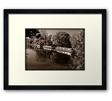 Moored Canal Boats England Framed Print