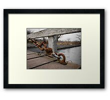 Hungerford Swing Bridge Framed Print