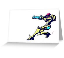 Samus Aran Colors / metroid Greeting Card