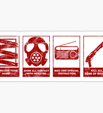 In Case Of Zombie Apocolypse Sticker