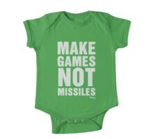 Make Games Not Missiles One Piece - Short Sleeve