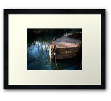 Rusty Barge Framed Print