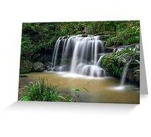 Sydney waterfalls - Hunts Creek #1 Greeting Card