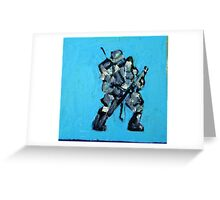 SPACE SOLDIER Greeting Card