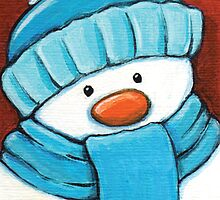 Snowman in Blue by Lisa Marie Robinson