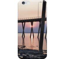 Sunset through Bushfire Smoke at Low Tide iPhone Case/Skin