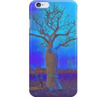 Blue Boab tree iPhone Case/Skin