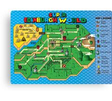 Super Edinburgh World Canvas Print