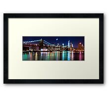 New York City Skyline and Brooklyn Bridge Framed Print