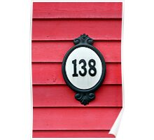 House number. Poster