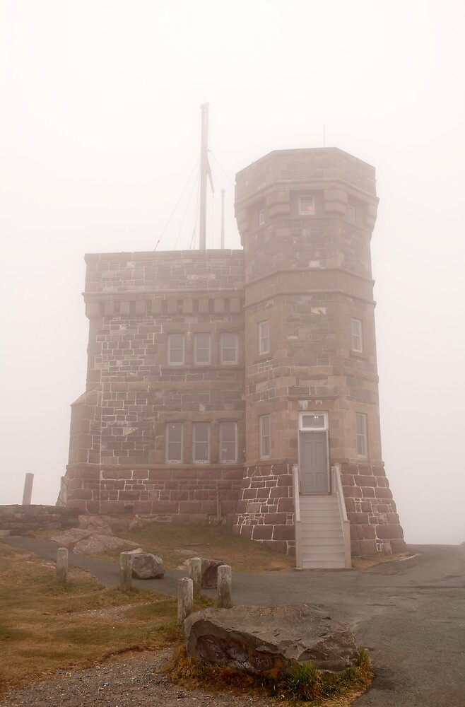 Cabot Tower in the fog, Newfoundland. by FER737NG