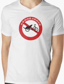 No Rickshaws Allowed, Traffic Sign, Vietnam Mens V-Neck T-Shirt