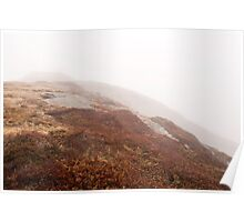 Signal Hill in the fog, Newfoundland. Poster