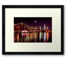 New York City Skyline from Brooklyn Bridge Park Framed Print