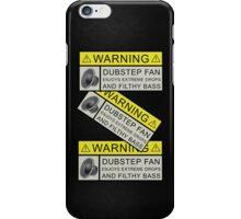 Dubstep Warning iPhone Case/Skin