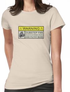 Dubstep Warning Womens Fitted T-Shirt