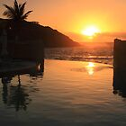 Sunrise at Oyster Bay St. Maarten by Roupen  Baker