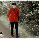 Postman Pat and his black and white cat by © Kira Bodensted