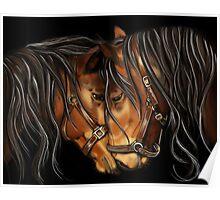 Hearts A Fire - Horse Portrait Poster