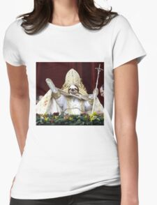 Sloth Pope  Womens Fitted T-Shirt