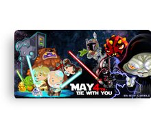 May the 4 be with you!!! Canvas Print