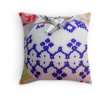 decorations for Christmas tree Throw Pillow