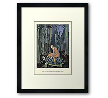Old French Fairy Tales: Through the Forest Framed Print