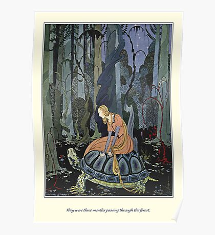 Old French Fairy Tales: Through the Forest Poster
