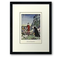 Old French Fairy Tales: What Are You Seeking Framed Print