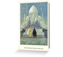 Old French Fairy Tales: They Walked Side by Side Greeting Card