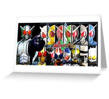 Kamen Rider W - All Rider Forms Greeting Card