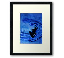 Surfing  #3, watercolor Framed Print