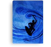 Surfing  #3, watercolor Canvas Print