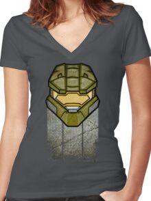 John-117 Women's Fitted V-Neck T-Shirt