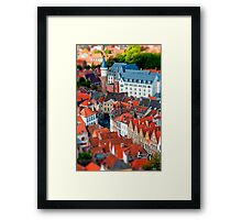 Bruges (tilt and shift) Framed Print