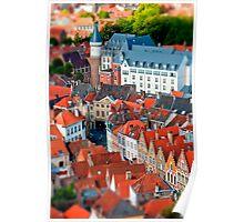 Bruges (tilt and shift) Poster