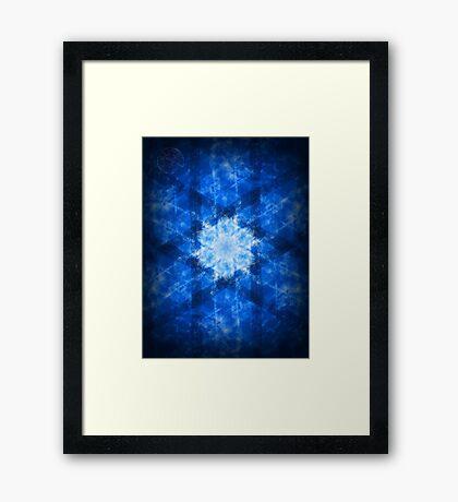 ©DA Neon Fractal VIII Framed Print