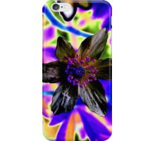 Psychedelic flower iPhone Case/Skin