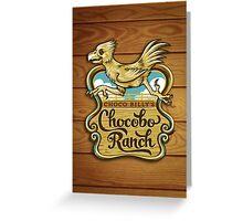 Choco Billy's Chocobo Ranch Greeting Card
