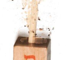 exploding Sevivon (or Dreidel) a spinning top traditionally played during Chanukah Sticker