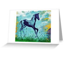 Paint Foal Greeting Card