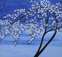 vibrant creative blue tree by cathyjacobs