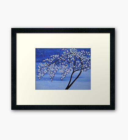 vibrant creative blue tree Framed Print