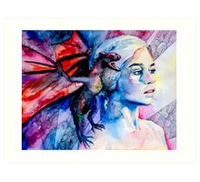 Daenerys Targaryen - game of thrones  Art Print