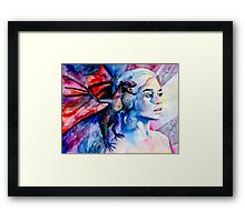Daenerys Targaryen - game of thrones  Framed Print