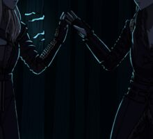 Clexa in the glowing forest Sticker