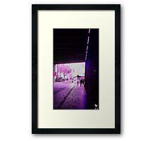 Trips Under The Bridge Framed Print