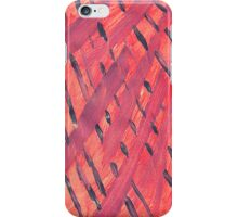 Abstract Pink Print - Hand Painted Art iPhone Case/Skin