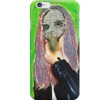 A Beautiful Face With A Leather Jacket iPhone Case/Skin