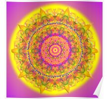 Mandala All is Karma All is Grace Poster